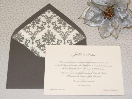 Invitación de boda - CLÁSICA 4339 Simple