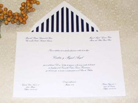 Invitación de boda - CLÁSICA 4337