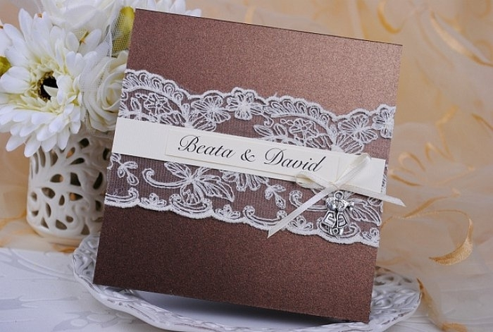 Invitación de boda - PARIS 2 MARRON