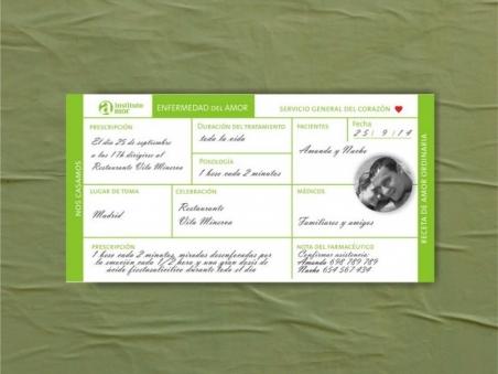 Invitación de boda - RECETA MEDICA  (Mil.4)
