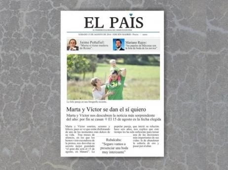 Invitación de boda - REVISTA EL PAIS CON FOTO   (MIL08)