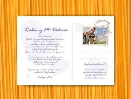 Invitación de boda - POSTAL CON FOTO    (MIL10)