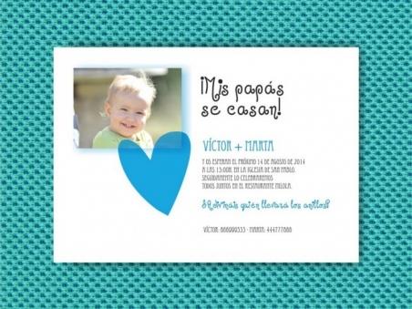 Invitación de boda con hijos MIS PAPAS SE CASAN  (MIL13)