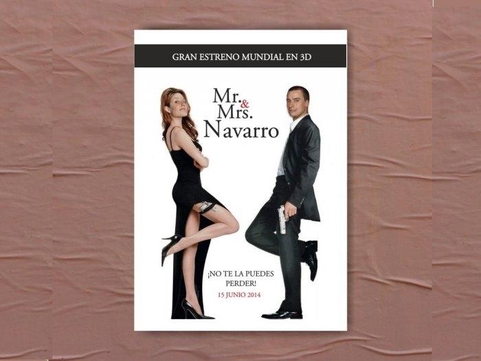 Invitación de boda - MR&MRS SMITH  CON FOTOS  (MIL16)