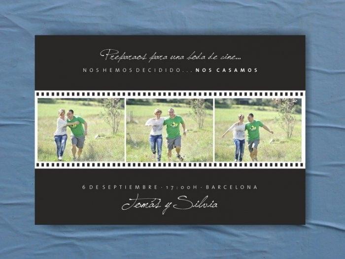 Invitación de boda - FOTOGRAMAS  (MIL46)