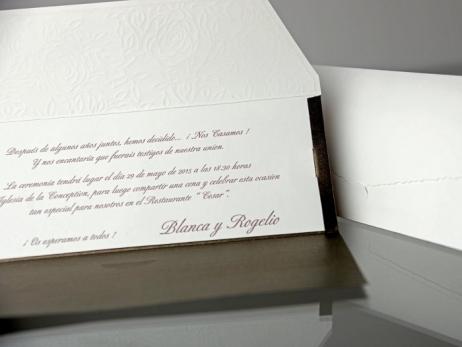 Invitación de boda - ELEGANTE BOLSO   (CARD 34901)