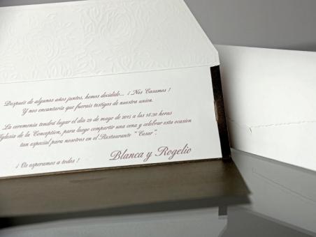 Invitación de boda barata elegante bolso 34901