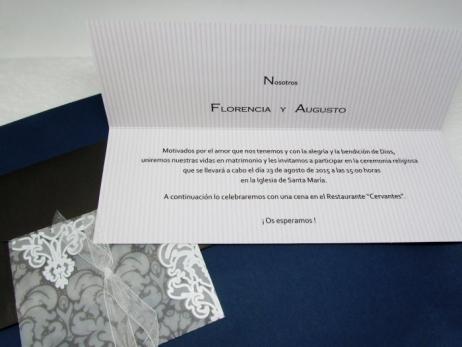 Invitación de boda - ELEGANTE ALARGADA   (CARD 34902)
