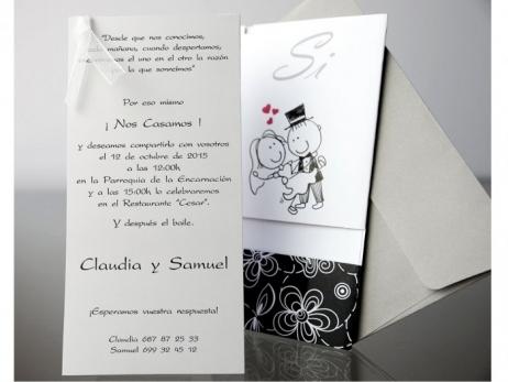 Invitación de boda - INFORMAL NOVIOS  (CARD 34903)
