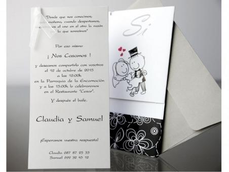 Invitación de boda divertida informal barata 34903
