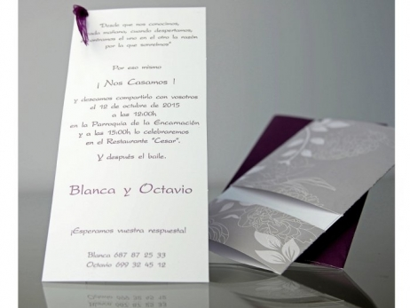 Invitación de boda - ELEGANTE FLORAL    (CARD 34906)
