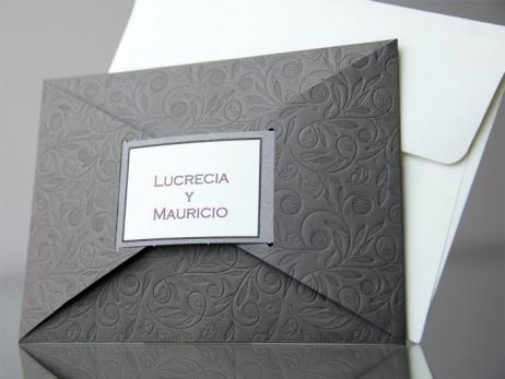 Invitación de boda - ELEGANTE GRIS    (CARD 34908)