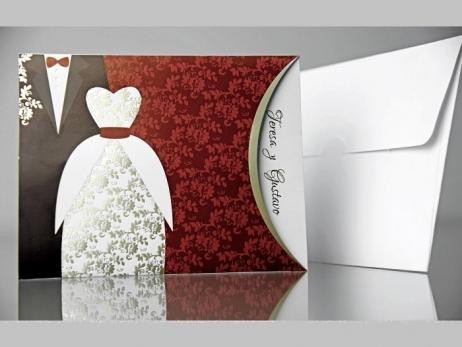 Invitación de boda - TRAJES DE NOVIOS   (CARD 34911)