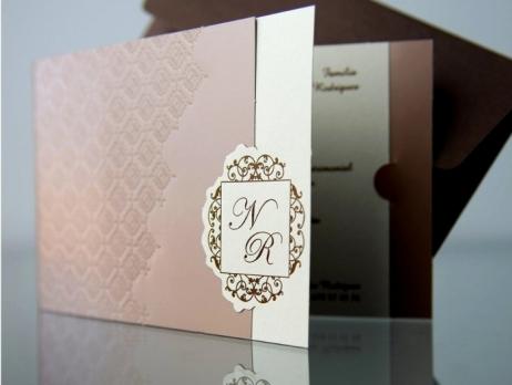 Invitación de boda - ELEGANTE MARRON   (CARD 34915)