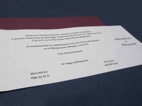 Invitación de boda - ELEGANTE MORADA    (CARD 34916)