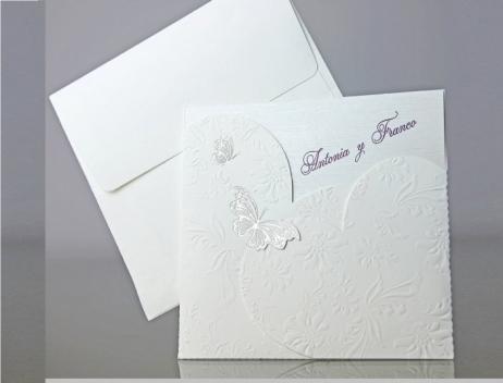 Invitación de boda - ELEGANTE BLANCA    (CARD 34917)