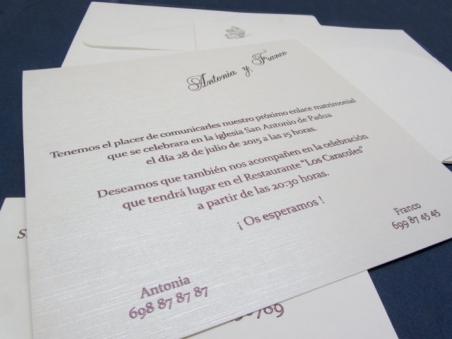 Invitación de boda barata elegante sencilla 34917