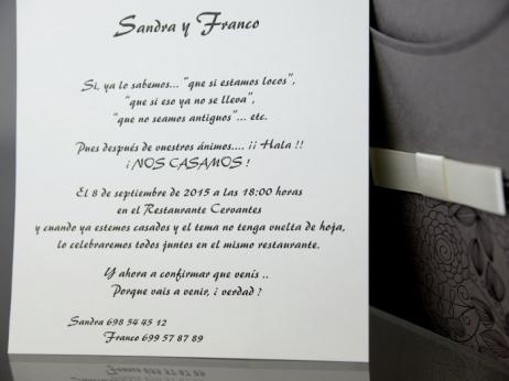 Invitación de boda - ELEGANTE   (CARD 34928)