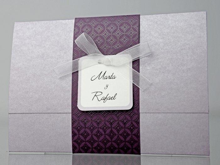 Invitación de boda - ELEGANTE LILA   (CARD 34930)