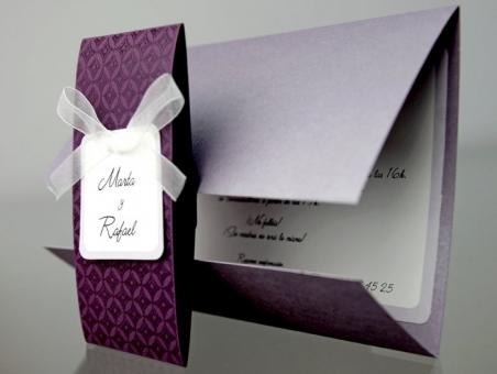Invitación de boda barata elegante 34930