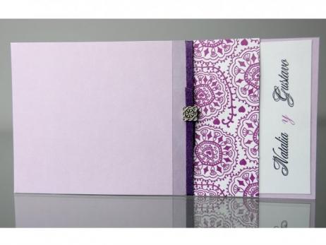 Invitación de boda - ELEGANTE MORADA    (CARD 34933)
