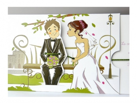 Invitación de boda - CON MOVIMIENTO   (C93734)