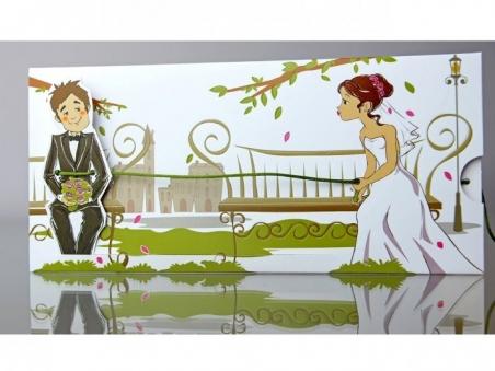 Invitación de boda divertida con movimiento 34937