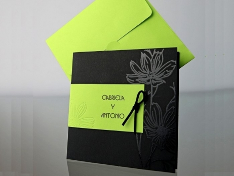 Invitación de boda - ELEGANTE VERDE    (CARD 34938)
