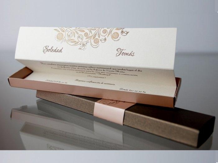 Invitación de boda - ELEGANTE EN CAJA   (CARD 34939)