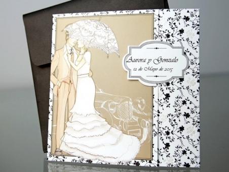 Invitación de boda elegante en oferta 34944