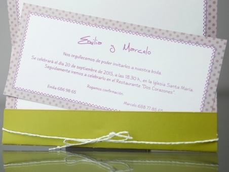 Invitación de boda divertida novios 34946