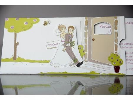 Invitación de boda divertida con movimiento 34947