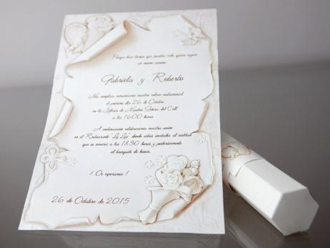 Invitación de boda - PERGAMINO   (CARD 34953)