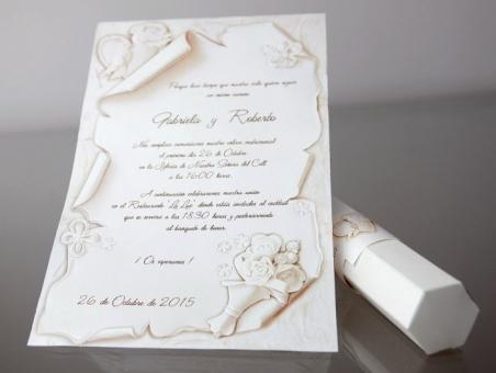 Invitación de boda original pergamino 34953