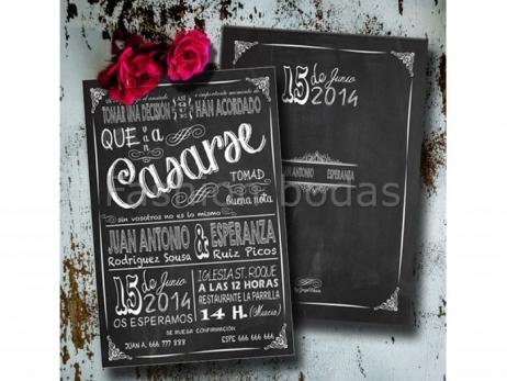 Invitación de boda - PIZARRA MOD.1   ref.  TJS-630