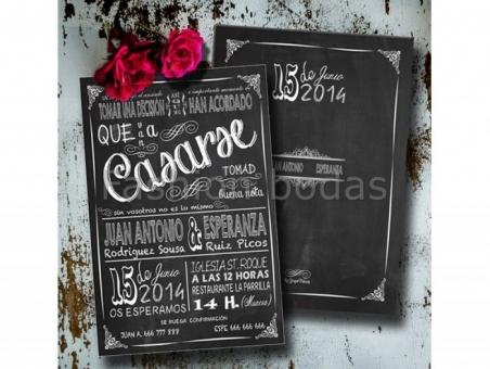 Invitación de boda - PIZARRA MOD.1   TJS-630