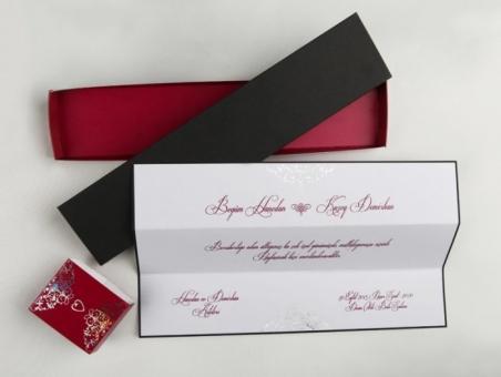 Invitación de boda barata elegante 50645