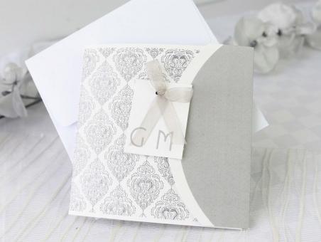 Invitación de boda elegante con foto 32600
