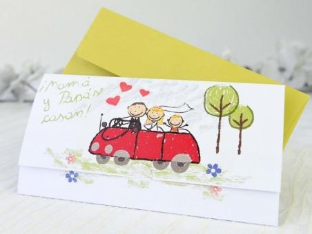 Invitación de boda con hijos 35601