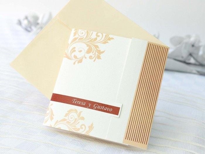 Invitación de boda -  ELEGANTE CON FOTO   (A61132)