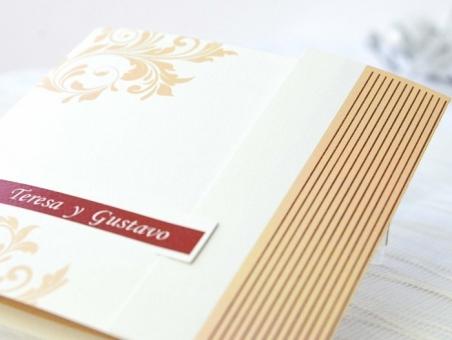 Invitación de boda elegante con foto 32611