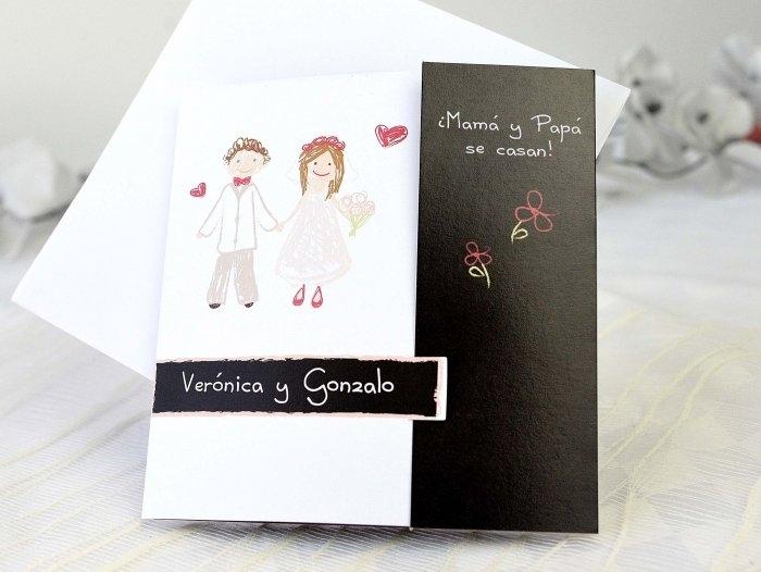 Invitación de boda - PAPA Y MAMA CON FOTO  (A61632)