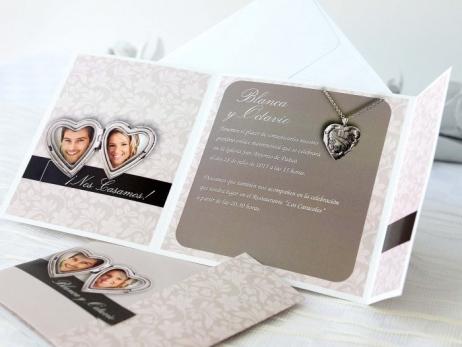 Invitación de boda -  ELEGANTE CON FOTO    (A61932)