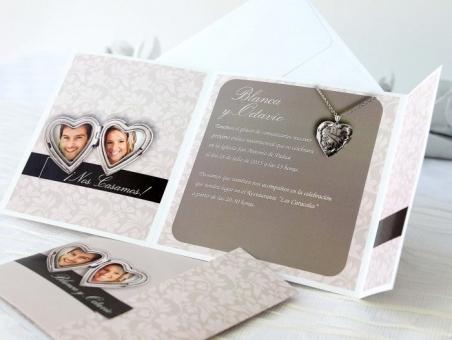 Invitación de boda elegante con fotos 32619
