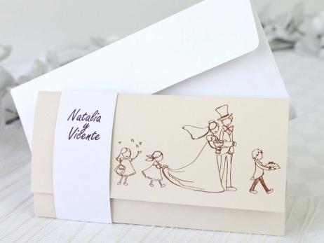 Invitación de boda -  VAMOS DE BODA    (A62532)