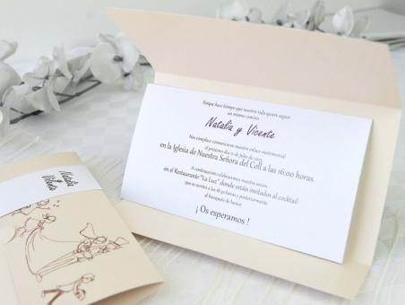 Invitación de boda barata elegante 32625