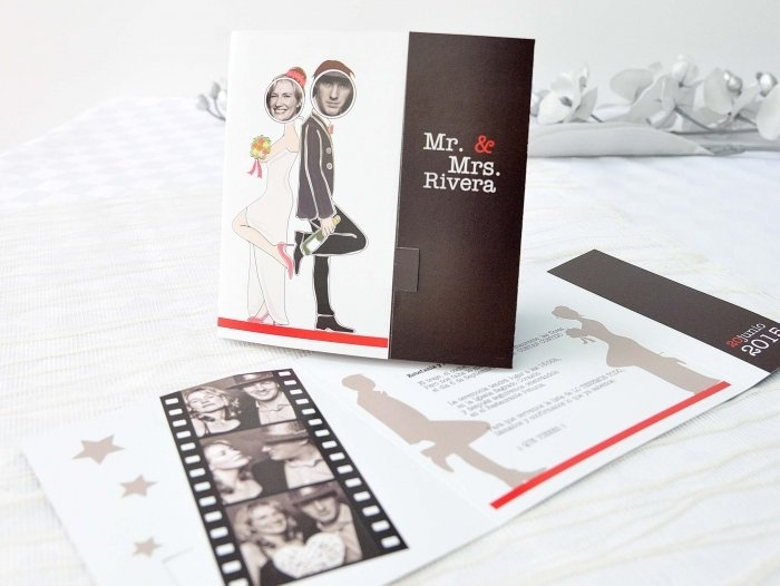 Invitación de boda - PELICULA CON FOTO   (A62632)