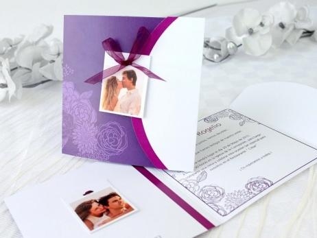 Invitación de boda -  FLORAL CON FOTO    (A63132)