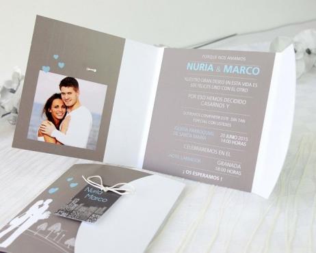 Invitación de boda -  ELEGANTE CON FOTO   (A63932)