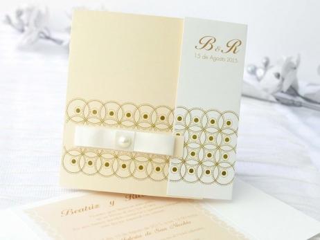 Invitación de boda - ELEGANTE BEIS    (A64032)